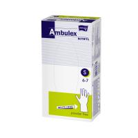 MATOPAT Ambulex Nitrylové rukavice nepudrované, prodloužené, bílé vel. S 100 ks