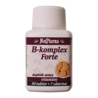 MEDPHARMA B komplex Forte 30 tablet + 7 zdarma