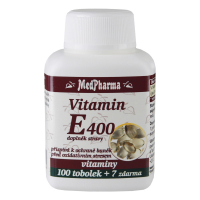 MEDPHARMA Vitamín E400 100 tobolek + 7 ZDARMA