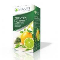 MEGAFYT Zelený čaj pravý s příchutí citrónu a limetky 20 x 1,5 g