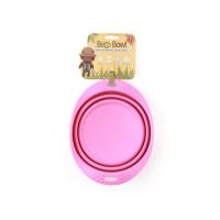 BECO Bowl Travel EKO Cestovní miska pro psy růžová L