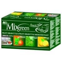 MIX GREEN pravý zelený čaj & pravý zelený čaj aromatizovaný porcovaný 20 x 1,75 g