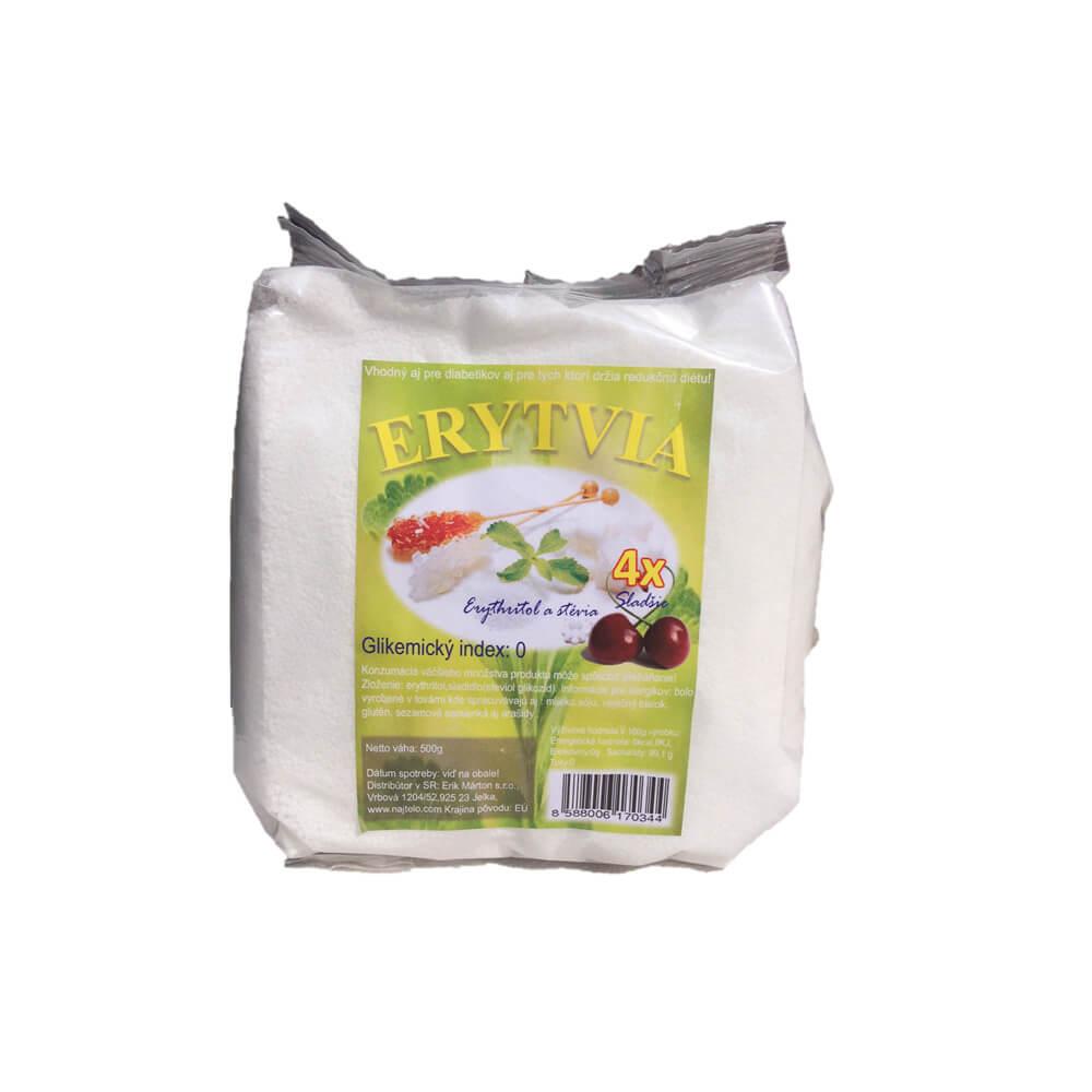 NAJTELO Erytvia březový cukr a stévie 500 gg
