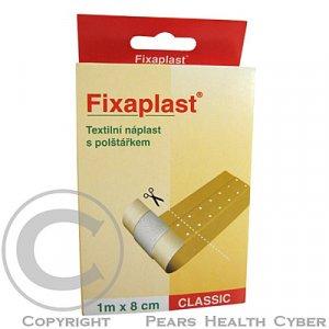 Náplast Fixaplast Classic 1mx8 cm text. s polštářkem