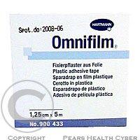 Náplast Omnifilm porézní fólie 1.25 cmx5 m 1 ks