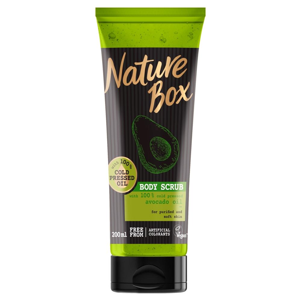 NATURE BOX Tělový peeling Avocado 200 ml
