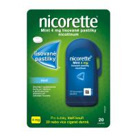 NICORETTE Mint 4 mg Lisované pastilky 20 kusů
