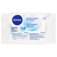 NIVEA Čistící micelární pleťové ubrousky 3v1 25 ks
