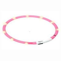 KARLIE FLAMINGO Obojek USB Visio Light 70 cm růžový KAR