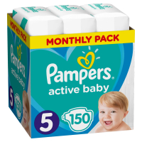 PAMPERS Active Baby vel.5 dětské pleny 11-16 kg 150 ks