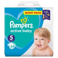 PAMPERS Active Baby vel.5 Dětské pleny 11-16kg  64 ks
