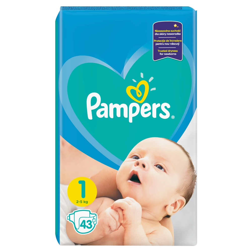 Pampers New baby 1 newborn 2 - 5 kg 43 kusů