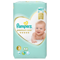 PAMPERS Premium Care, Velikost 3, Plenka 60x, 6 -10 kg