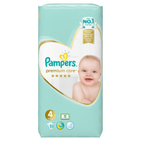 PAMPERS Premium care vel. 4, 9 - 14 kg 52 ks
