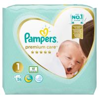 PAMPERS Premium Care Pack S1 Newborn 2-5kg 26 ks