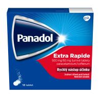 PANADOL Extra rapide 500 / 65 mg 12 šumivých tablet