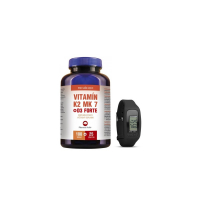 PHARMA ACTIV Vitamín K2 MK 7 + D3 Forte 125 tablet + Fitness náramek - SET VITALITA I.