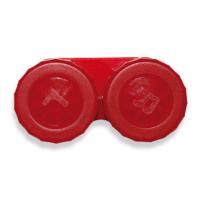 POUZDRO Na kontaktní čočky klasické jednobarevné, Barva: Červená