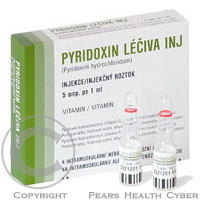 PYRIDOXIN LÉČIVA INJ.  5X1ML/50MG Injekční roztok
