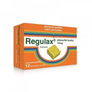 REGULAX Pikosulfát kostky 10 mg 12 lisovaných pastilek