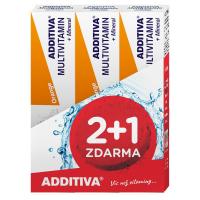 ADDITIVA sada multivitamin 2+1 pomeranč šumivé tablety 3 x 20ks