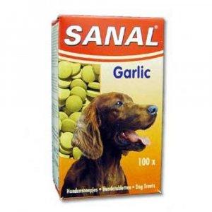 SANAL Garlic česnekový dospělý pes a.u.v. 100 tablet