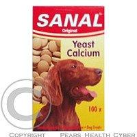 SANAL Yeast Calcium kvasinky pes a.u.v. 100 tablet