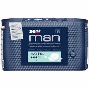 SENI Man extra inkontinenční vložky 4 kapky 15 kusů