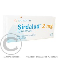 SIRDALUD 2 MG  30X2MG Tablety