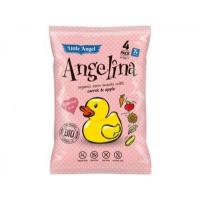 Snack kukuřičný Angelina mrkev a jablko BIO 4x15g