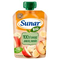 SUNAR Kapsička 100% ovoce Jablko a banán BIO 100 g