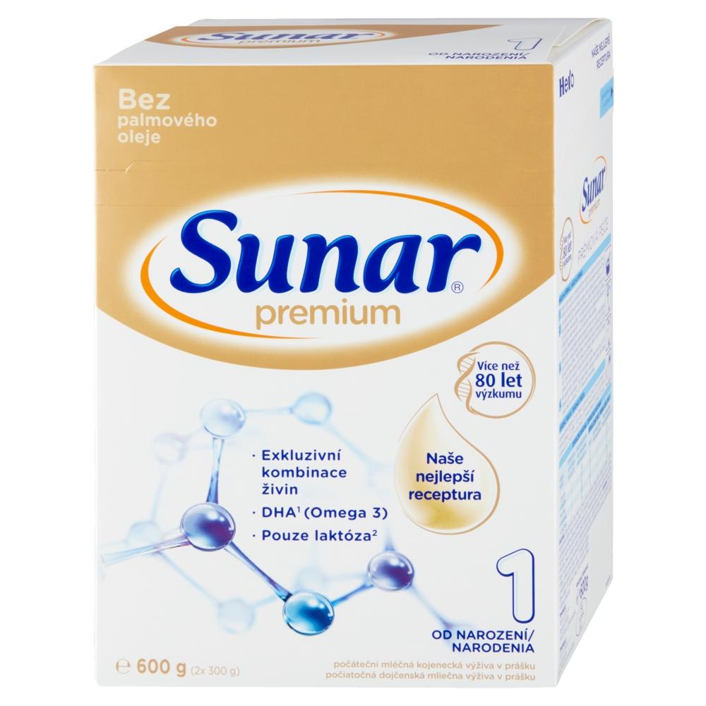 SUNAR Premium 1 Počáteční kojenecké mléko od 0 - 6 měsíců 600 g