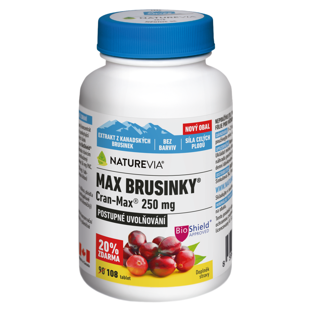 SWISS NATUREVIA Max Brusinky 8500 mg Cran-Max 90+18 tablet