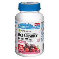SWISS NATUREVIA Max brusinky pastilky 30+6 pastilek