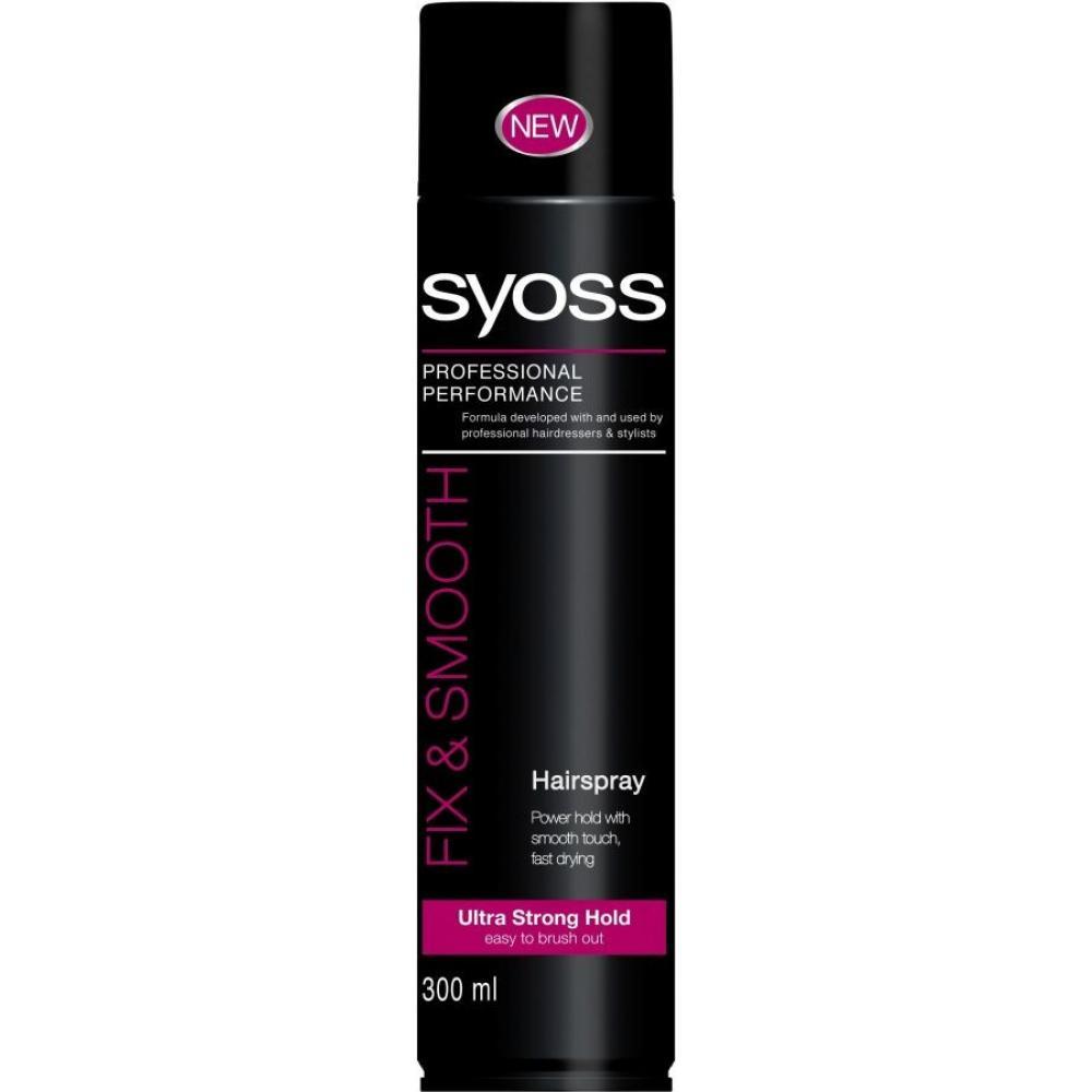 SYOSS lak na vlasy shine & hold300ml růžový