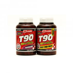 XXLABS T90 - Xxtreme Testosterone Booster 120 kapslí + 120 kapslí ZDARMA