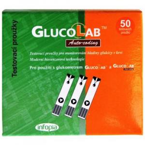 GLUCOLAB Testovací proužky pro glukometr GlucoLab 50 ks
