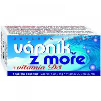 NATURVITA Vápník z moře + Vitamín D3 - 60 tablet