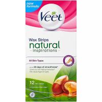VEET Natural Inspirations Voskové pásky pro všechny typy pokožky a ubrousky 12 ks