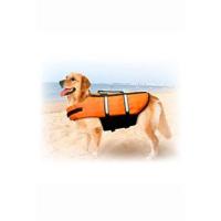 KARLIE FLAMINGO plavací vesta Dog M 35 cm oranžová