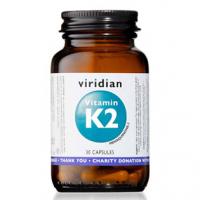 VIRIDIAN Nutrition Vitamin K2 30 kapslí